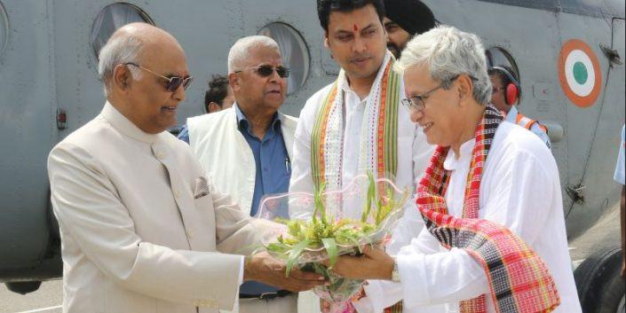 Tripura: President of India, Ram Nath Kovind and First Lady