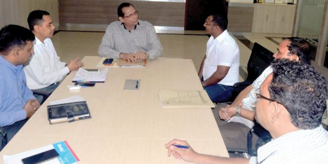 Sardinha holds meeting with district collector