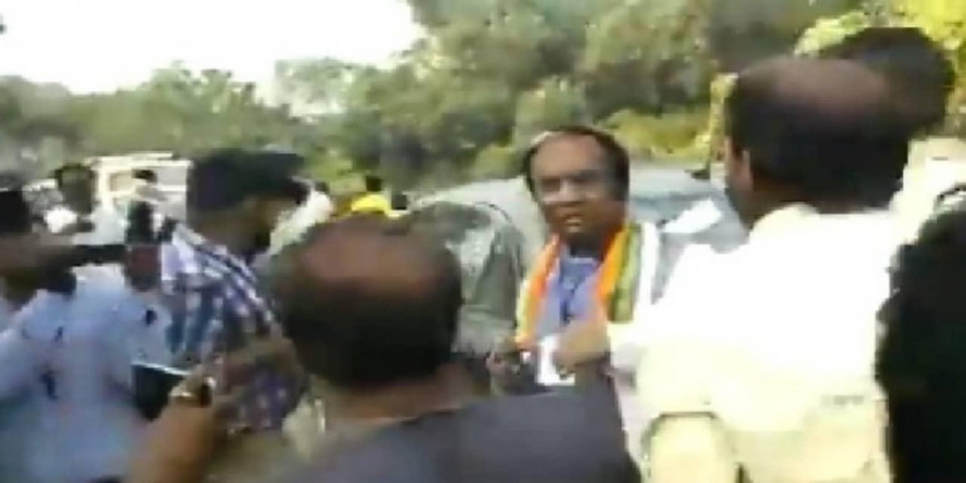 BJP Candidate Beaten Up by TMC Workers