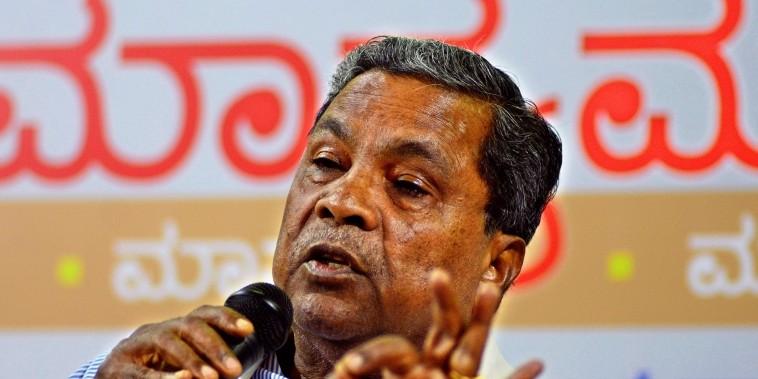 Former Karnataka CM Siddaramaiah pushes for Kannada, again