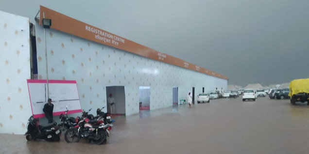 Kartarpur Corridor: PM मोदी के उद्घाटन करने से पहले टेंशन, टेंट सिटी व सभा स्थल में भरा पानी