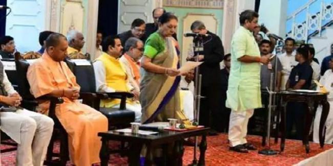 योगी मंत्रिमंडल में महिलाओं की संख्या घटी, 56 में सिर्फ 4 महिला मंत्री