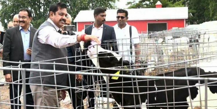 TN CM visits US dairy farm, explores options for setting up livestock park in Salem