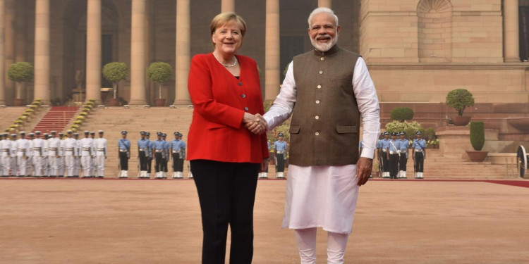 German Chancellor Angela Merkel on two-days Delhi visit