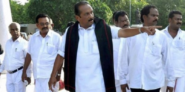 MDMK Chief Vaiko convicted in a sedition case gets one-year-imprisonment