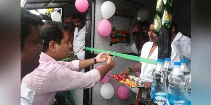 KTR gushes over India's first Street stall made from plastic waste in Siricilla