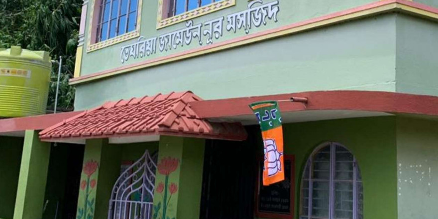 Bengal: Tension over BJP tying its flag in Nimta mosque