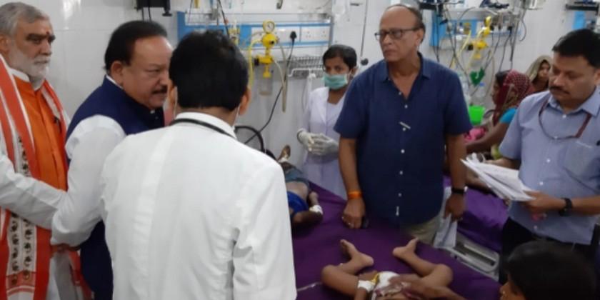 स्वास्थ्य मंत्री हर्षवर्धन की मौजूदगी में बच्ची की मौत, मुजफ्फरपुर में इंसेफेलाइटिस से 91 की गई जान
