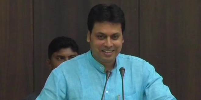Tripura CM claims law and order scene improving in state