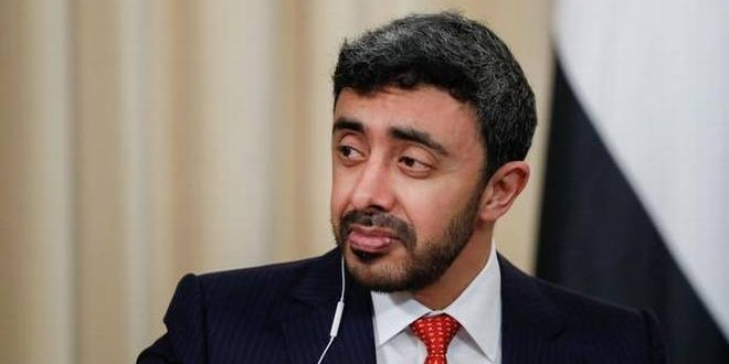 UAE Foreign minister arrives in India; energy, trade high on agenda of visit