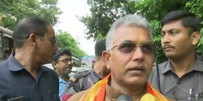 West Bengal BJP president Dilip Ghosh hits back at his 'Jai Shri Ram' jibe