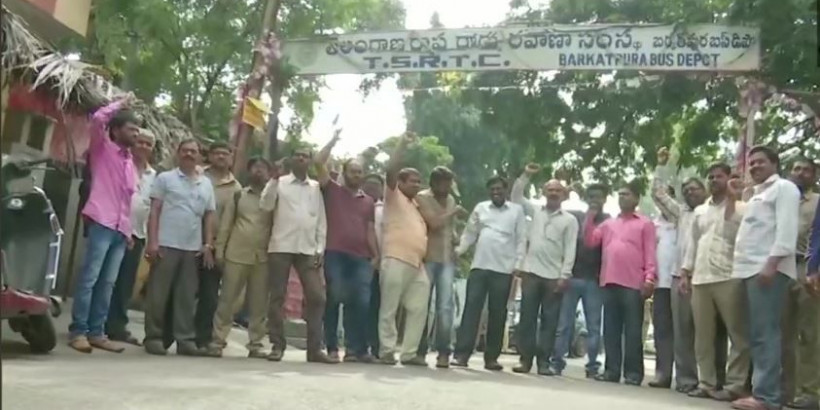 Opposition slams KCR, supporting TSR strike