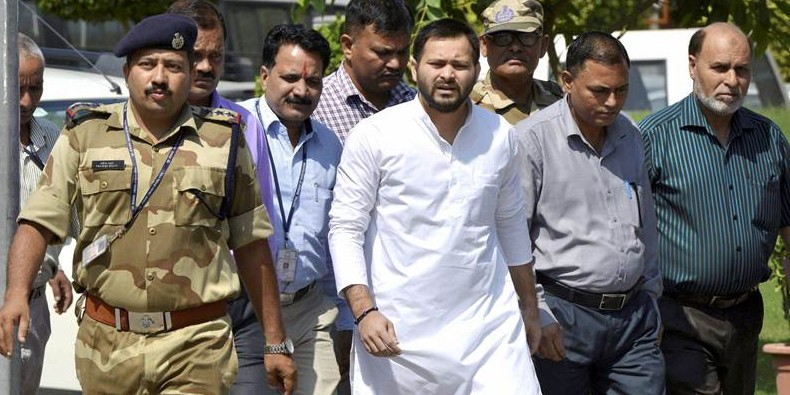 Had Lalu Yadav joined hands with BJP he would have been considered ' Raja Harishchandra': Tejashwi Yadav