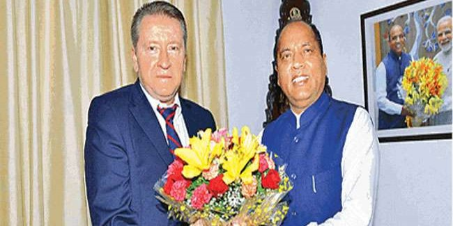 रूस के राजदूत कुडाशेवा ने की मुख्यमंत्री जयराम से मुलाकात कहा, रूस हिमाचल में निवेश का इच्छुक