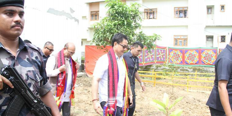 Manipur: Kiren Rijiju in Imphal to review progress of National Sports University