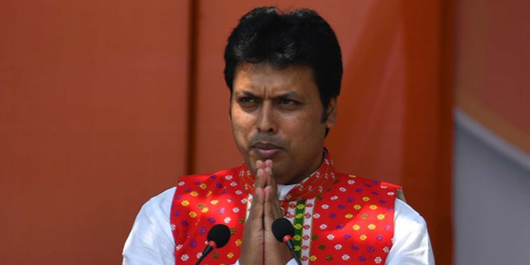 Tripura: CM Biplab Deb to continue as BJP state president till August