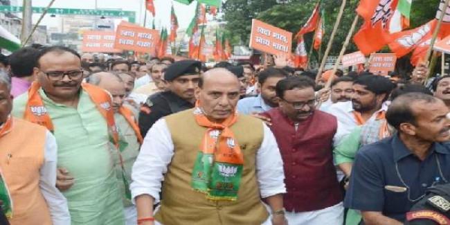 गांधीजी को भारत ही नहीं, पूरी दुनिया देती है सम्मान : रक्षामंत्री राजनाथ सिंह