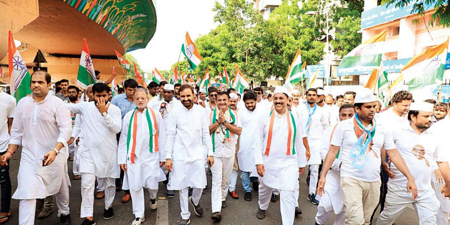Mahatma Gandhi is not just past, it is future as well: Congress