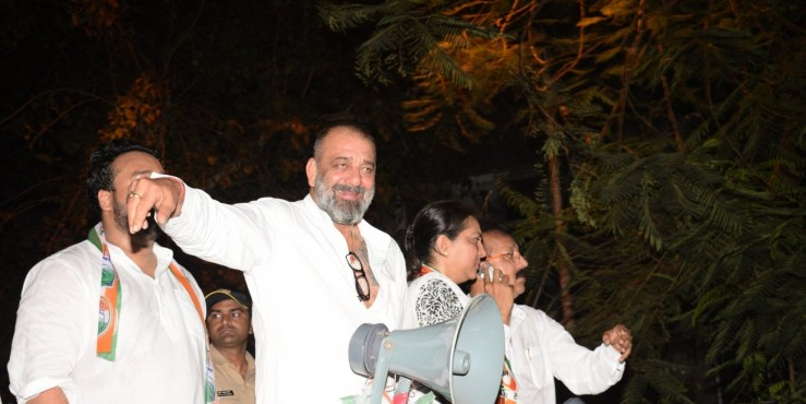 """Sanjay Dutt campaigns for sister Priya in Mumbai North Central, says """"will pray to God that she succeeds"""""""