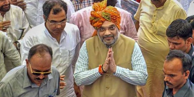 Home Minister Amit Shah in Ahmedabad today on a 2-day visit