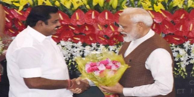 Edappadi Palaniswami thanks PM Modi on Centre's schemes