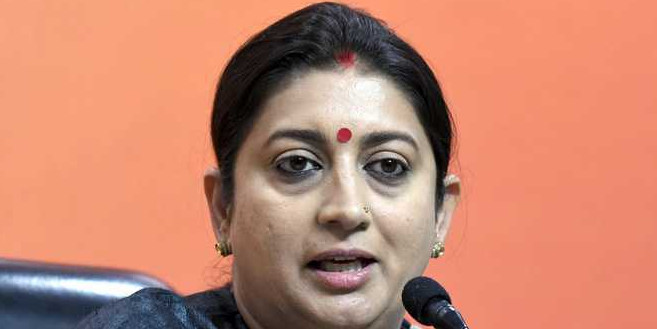 Smriti Irani wields two swords, performs 'talwar raas' in Gujarat