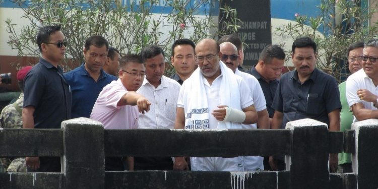 Manipur chief minister inspects Nambul river rejuvenation project
