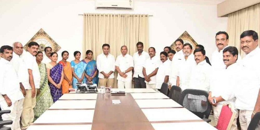 K T Rama Rao exhorts MPTCs, ZPTCs to get good name for TRS
