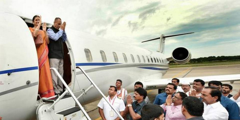 Telangana Governor accorded warm farewell, leaves for Chennai