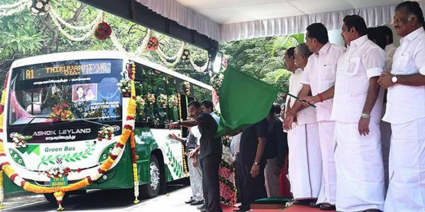T.N.'s first public electric bus rolled out