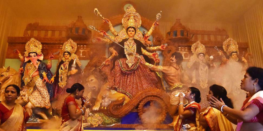 in durga pooja bjp will display party ideology books outside pandals
