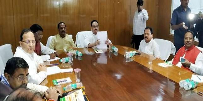 भाजपा कोर कमेटी की बैठक: जेपी नड्डा-सीएम रघुवर समेत कई वरिष्ठ नेता मौजूद