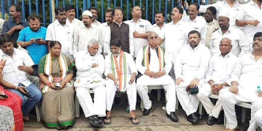 Telangana Congress launches indefinite fast on merger dispute