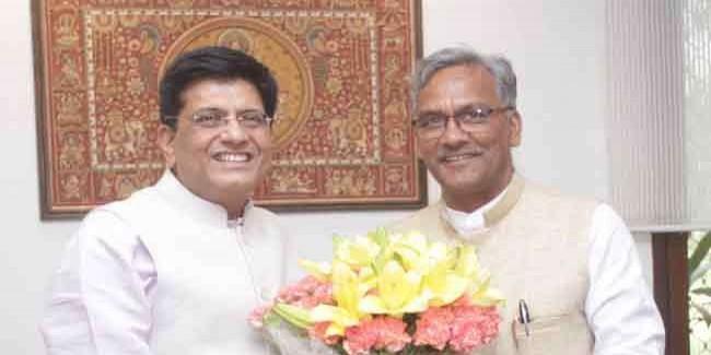 मुख्यमंत्री ने केंद्रीय रेल मंत्री से टनकपुर-बागेश्वर रेल लाईन इसी वर्ष स्वीकृत करने का किया अनुरोध