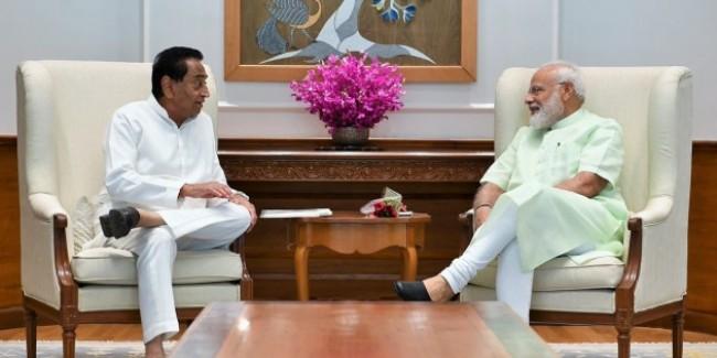 Madhya Pradesh Chief Minister Kamal Nath Meets PM Narendra Modi