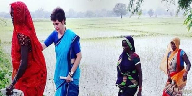 कर्ज में किसान कर रहे खुदकुशी, सरकार माफ कर रही अमीरों के पैसे: प्रियंका