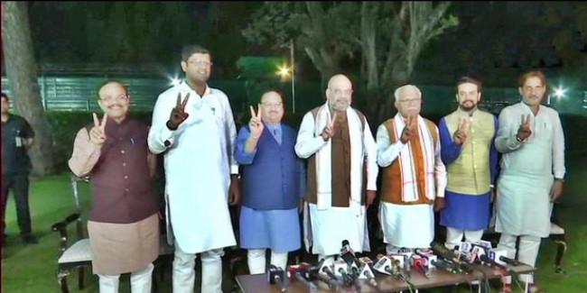 हरियाणा: अमित शाह ने किया BJP-JJP गठबंधन का ऐलान, खट्टर सीएम और दुष्यंत डिप्टी सीएम होंगे