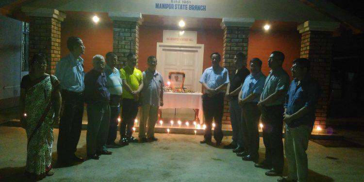 Candlelight vigil by Manipur doctors protesting Assam doctor killing case