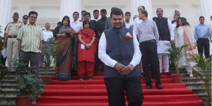 Chief Minister Devendra Fadnavis inaugurates school in Thane