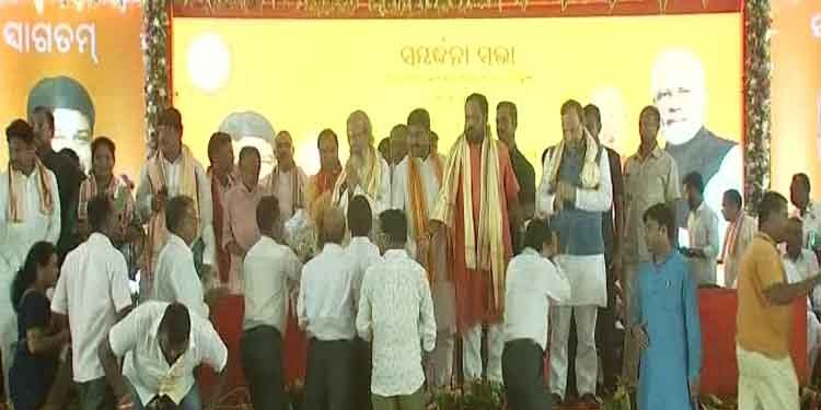 Odisha BJP Felicitates MLAs, MPs In Show Of Strength