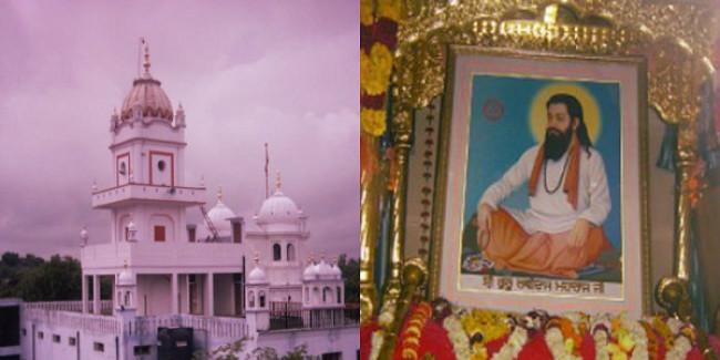 प्रदर्शन कर कांग्रेस ने की संत रविदास मंदिर बनाने की मांग, भाजपा पर लगाया तोड़ने का आरोप
