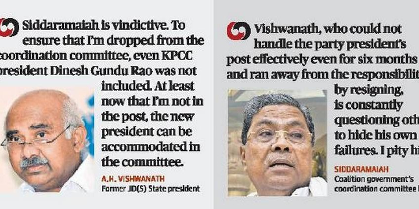 Friends-turned-foes Vishwanath, Siddaramaiah trade barbs