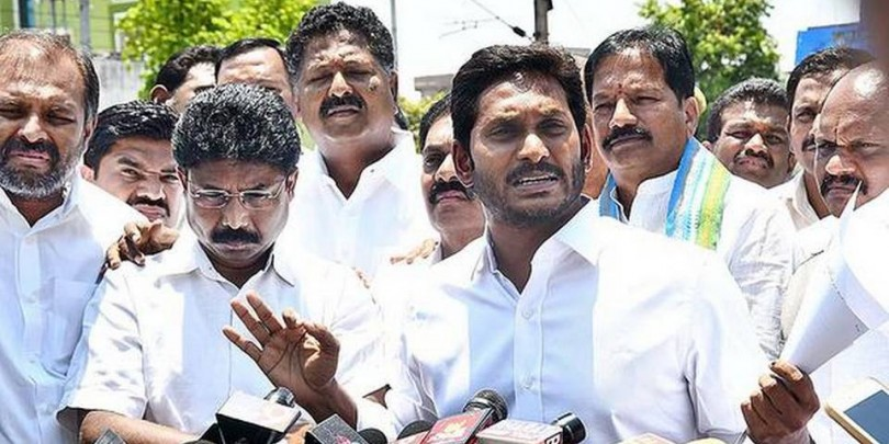 Jagan asks Governor to restore law and order in AP
