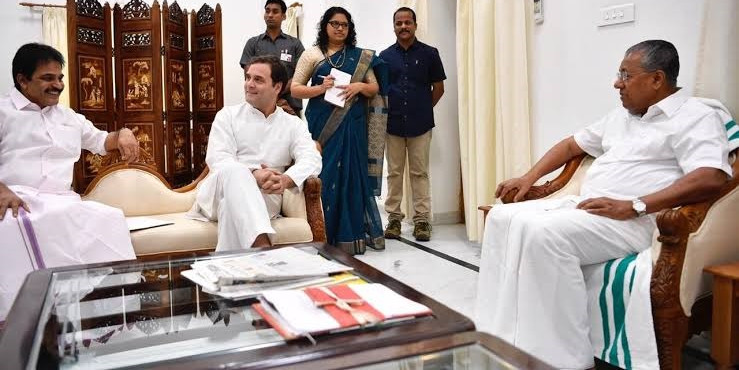 Rahul Gandhi Meets Pinarayi Vijayan, Discusses Bandipur ban