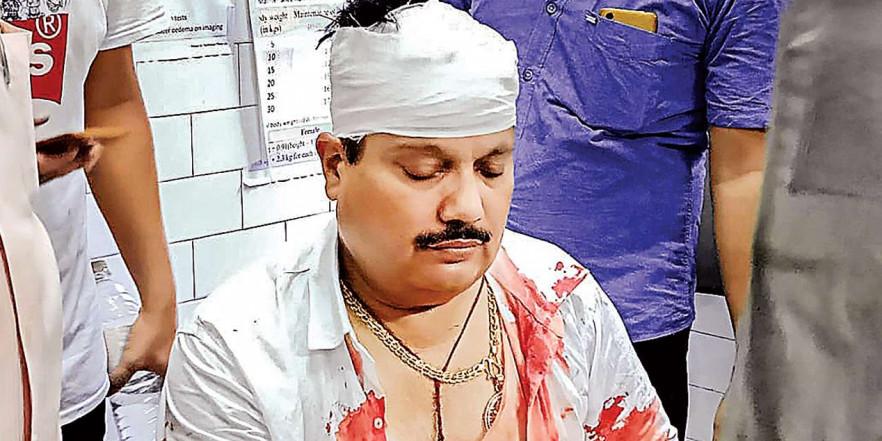 पुलिस लाठीचार्ज में भाजपा सांसद अर्जुन सिंह घायल