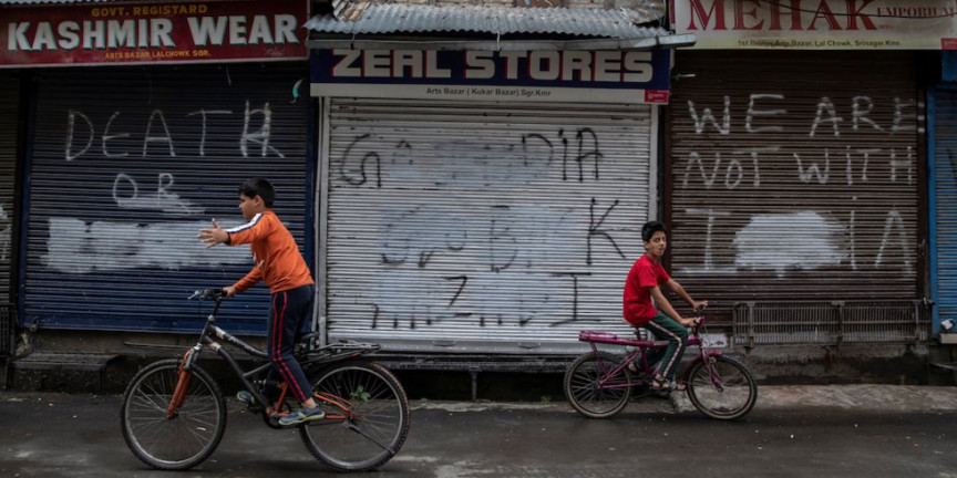 Armed forces in Kashmir are detaining children and molesting women and girls amid a state-wide blackout, report claims