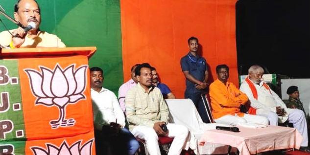 दुमका में बोले CM रघुवर दास - किसी भी व्यक्ति की जमीन कोई नहीं छीन सकता
