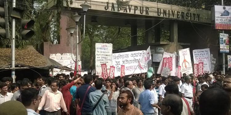 Kolkata Police Stopped ABVP Activist From Entering Jadavpur University