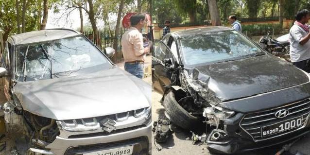 तेज प्रताप यादव की गाड़ी को कार ने मारी जोरदार टक्कर, बाल-बाल बचे, पार्टी कार्यालय जाते समय हुआ हादसा