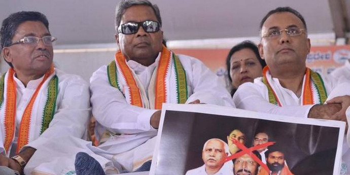 Congress leaders stage protest; seek ₹5,000 crore flood relief from Centre